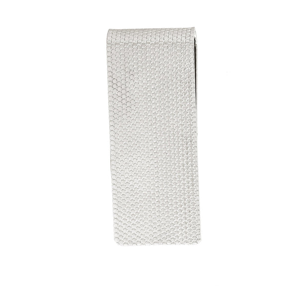Silver Tone Mesh  Thin Money Clip