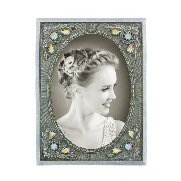 Black-Tone Crystal Picture Frame CRYSTAL CLEAR