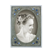 Black-Tone Crystal Picture Frame BLUE