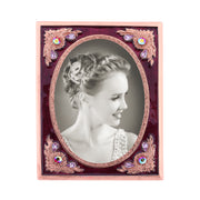 Copper Tone With Berry Enamel And Crystal Ab Picture Frame