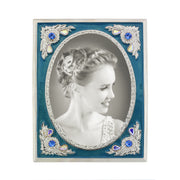 Enamel and Crystal AB Picture Frame 4.5x4.5