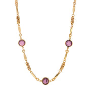 Purple Swarovski Round Channel Crystal Necklace