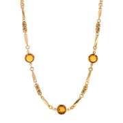 Yellow Swarovski Round Channel Crystal Necklace