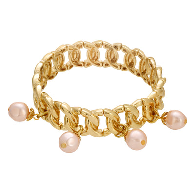 Pearl Drop Bead Stretch Bracelet