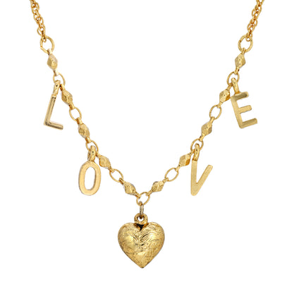 Heart L O V E 16 Inch Necklace
