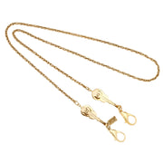 14k Gold Dipped Violin Pendant Mask Chain Holder 22 Inches