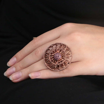Copper w/Amy Round Stretch Ring