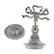 Silver Tone Bow Handle Cherub Wax Stamp