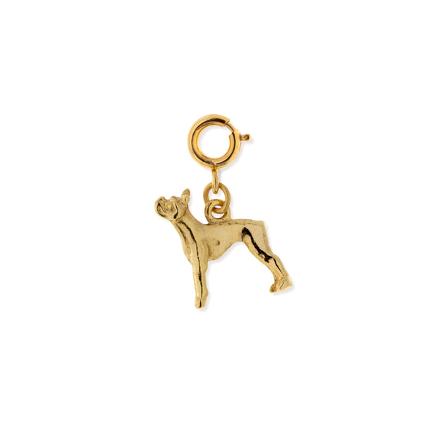 Pewter Boston Terrier Dog Charm