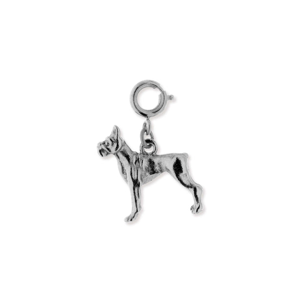 Gold Pewter Boxer Dog Charm
