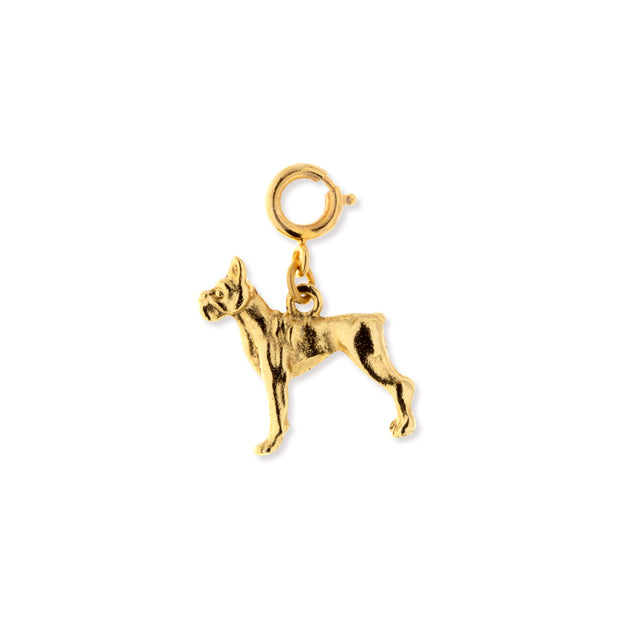 Silver Pewter Boxer Dog Charm