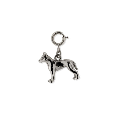 Pewter American Terrier Dog Charm Silver