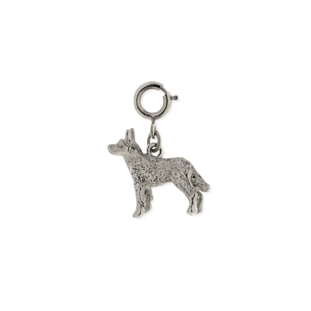 Pewter Husky Dog Charm SILVER