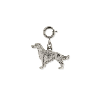 Pewter Golden Retriever Dog Charm Silver