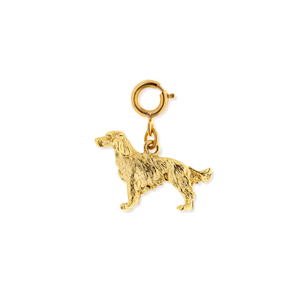 Pewter Golden Retriever Dog Charm