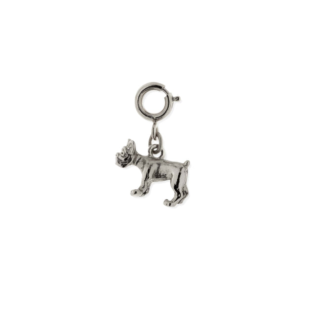 Pewter French Bulldog Dog Charm SILVER