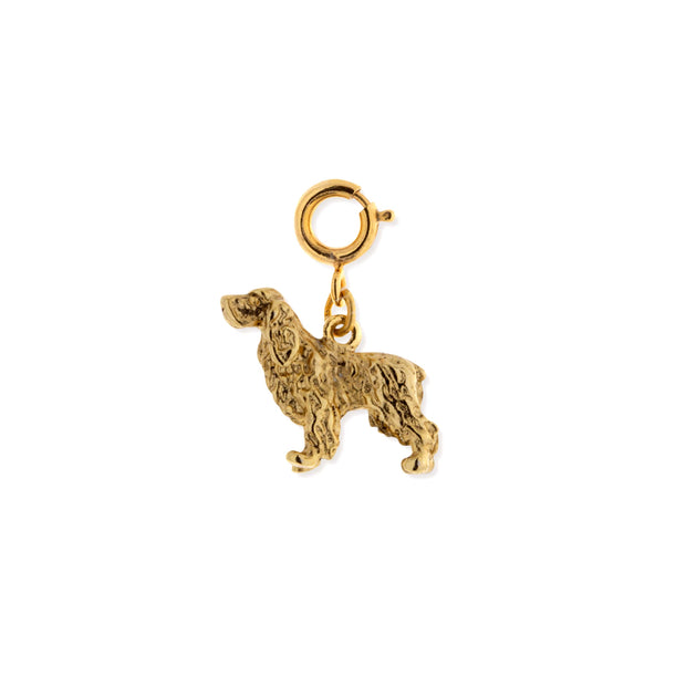 Silver Pewter English Springer Spaniel Dog Charm