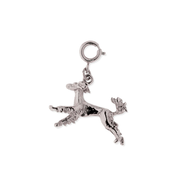 Pewter Saluki Dog Charm