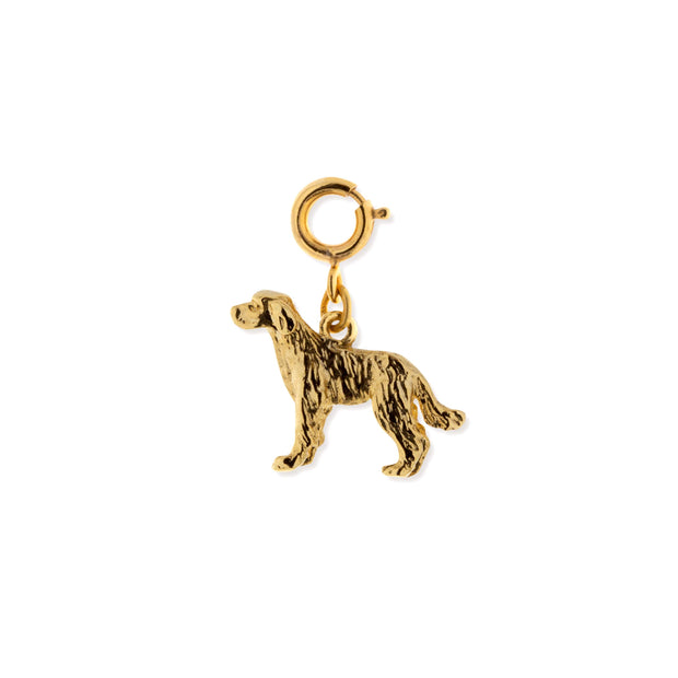 Pewter Labrador Dog Charm