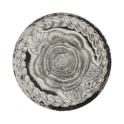 Silver-Tone Tailored Handle Rose Wax Stamp