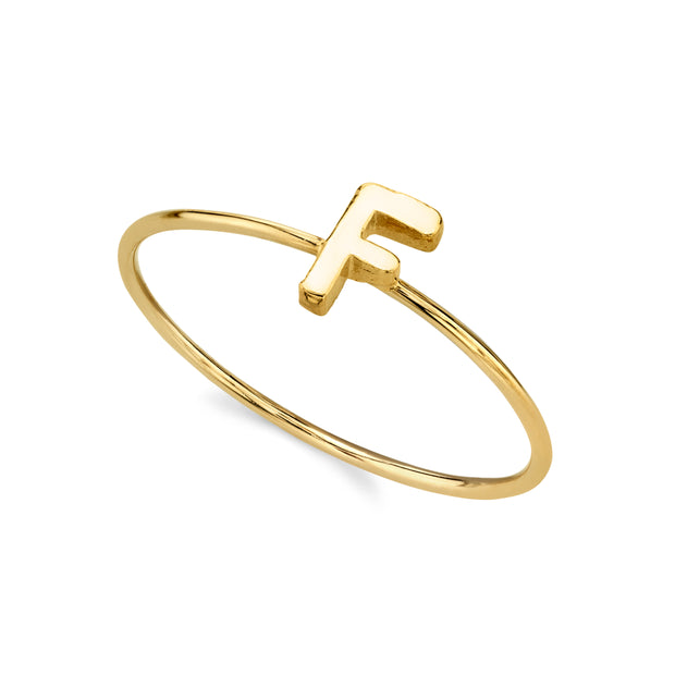 14K Gold Dipped Minimalist Initial Rings G
