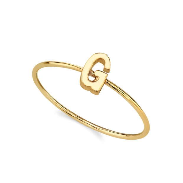 14K Gold Dipped Minimalist Initial Rings H