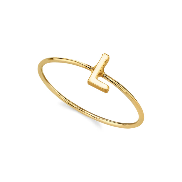 14K Gold Dipped Initial Letter Ring Size 7 M