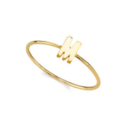 14K Gold Dipped Initial Letter Ring Size 7 N