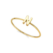 14K Gold Dipped Initial Letter Ring Size 7 O