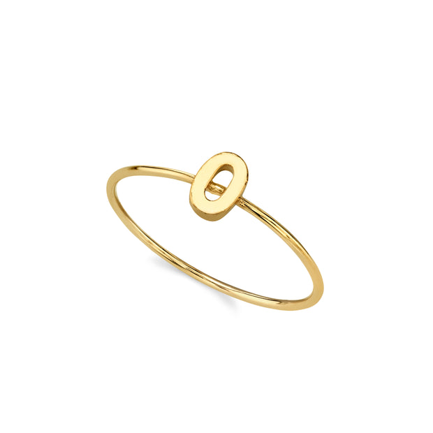 14K Gold Dipped Initial Letter Ring Size 7 P
