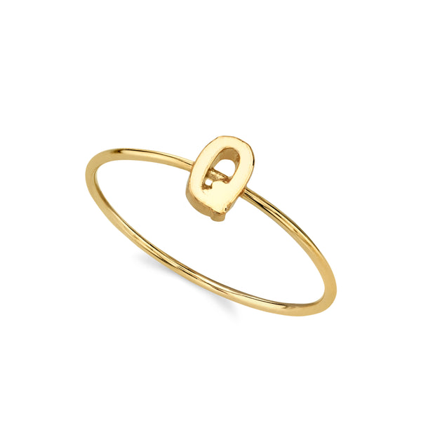 14K Gold Dipped Minimalist Initial Rings R