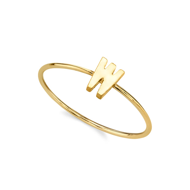 14K Gold Dipped Minimalist Initial Rings X