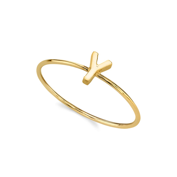 14K Gold Dipped Minimalist Initial Rings Z