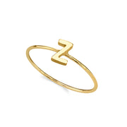 14K Gold Dipped Minimalist Initial Rings