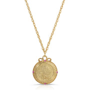 Gold Tone January Flower Of The Month Carnations Necklace 20Inch 16