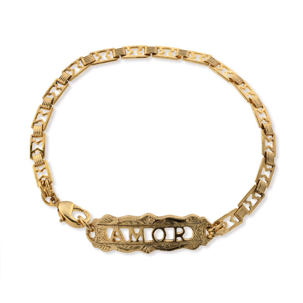 14K Gold Dipped Amor Chain Bracelet