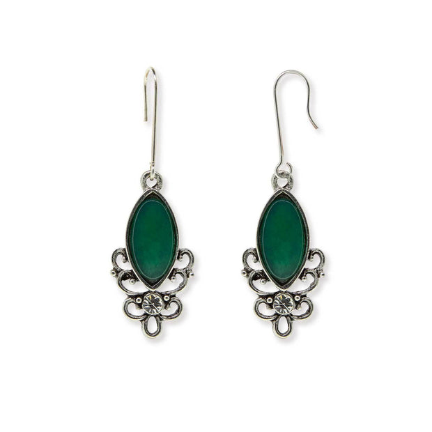 Green Chrysophase Sterling Silver Wire Genuine Stone Color Aventurine Earrings