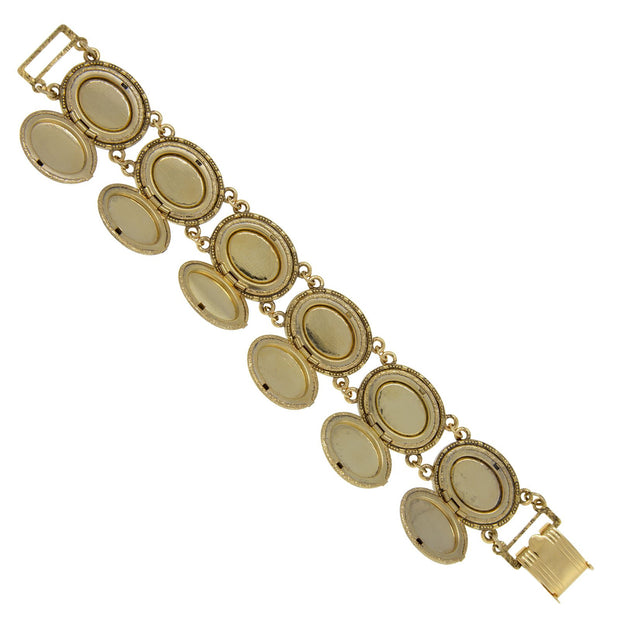 1928 Jewelry Oval Locket Link Bracelet