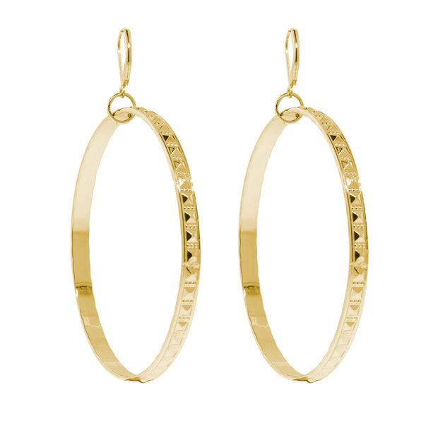 X Large Hoop Earrings Gold