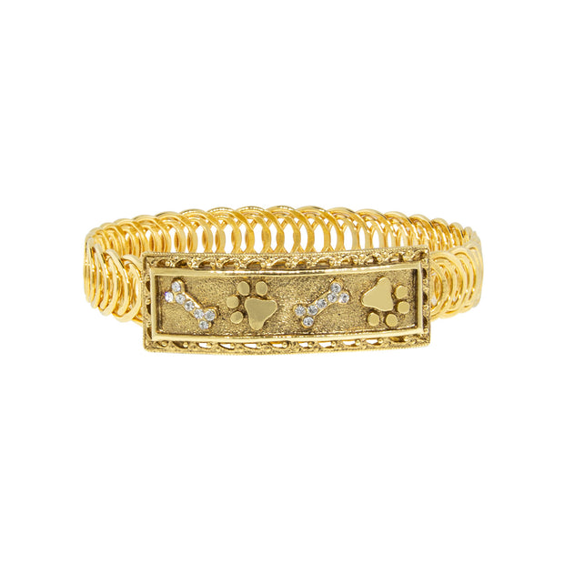Gold Paws And Bones Belt Bracelet