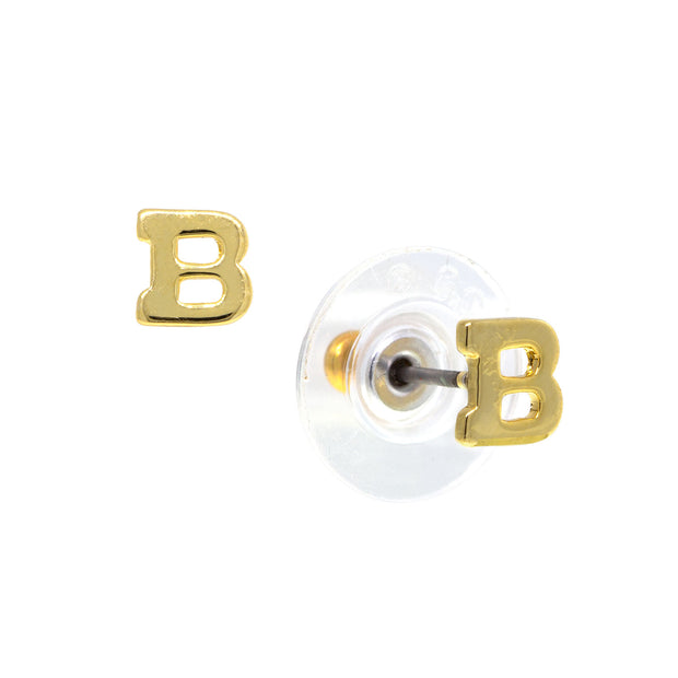 1928 Jewelry 14K Gold-Dipped Initial Button Earrings