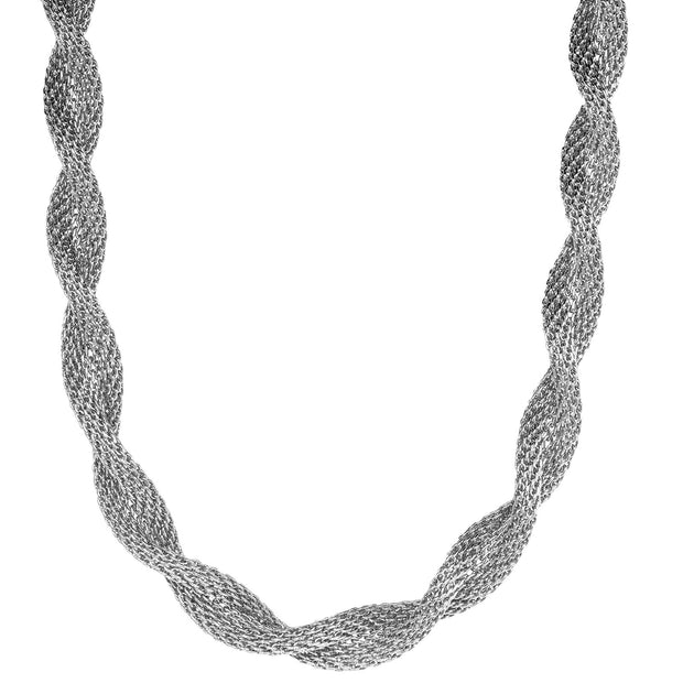 Silver Rope Chain Necklace