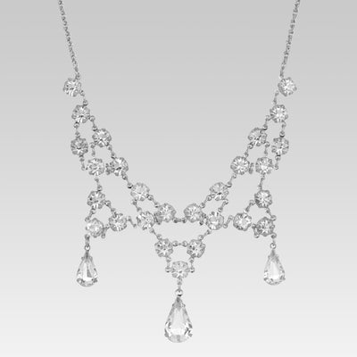 Swaovski Crystal with Teardrops Necklace 15 Inch