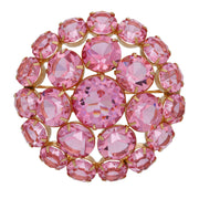 1928 Jewelry Rare Vintage Swarovski Crystal Large Round Brooch Pin