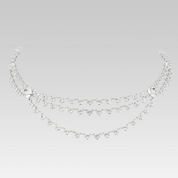 Swarovski Crystal Draped Necklace 15 Inch