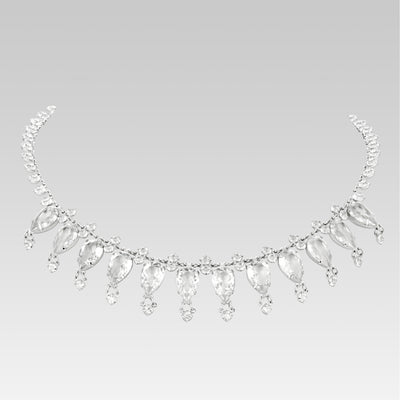 Collar Swarovski Crystal Tear Drop 14 pulgadas ajustable
