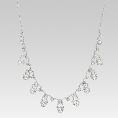 Swarovski Crystal Round Drop Necklace 15 Inch