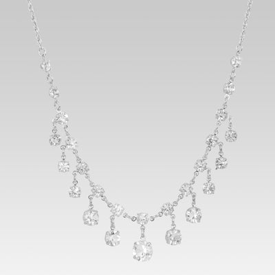 Swarovski Crystal Round Drop Necklace 15.5 Inch