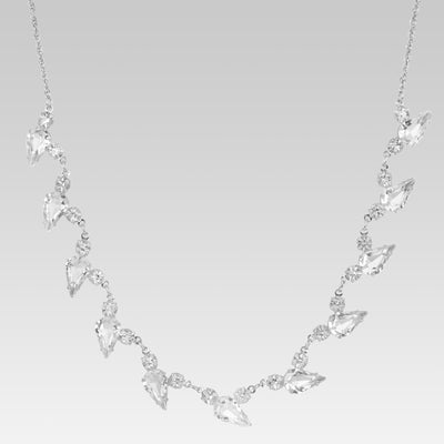 Collar Swarovski Crystal Tear Drop 15 pulgadas