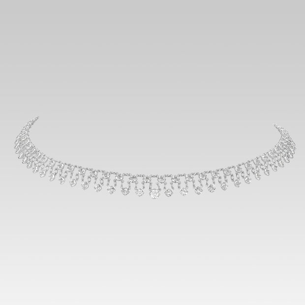Swarovski Crystal Round Drop Link Necklace 16 Inch